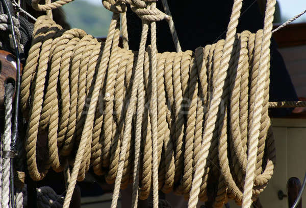 Rope on a Ship Stock photo © AlphaBaby