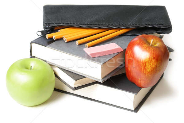 School Books with Pencil Case Stock photo © AlphaBaby