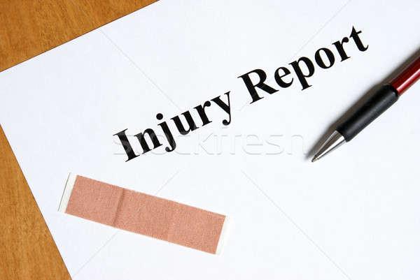Injury Report Stock photo © AlphaBaby