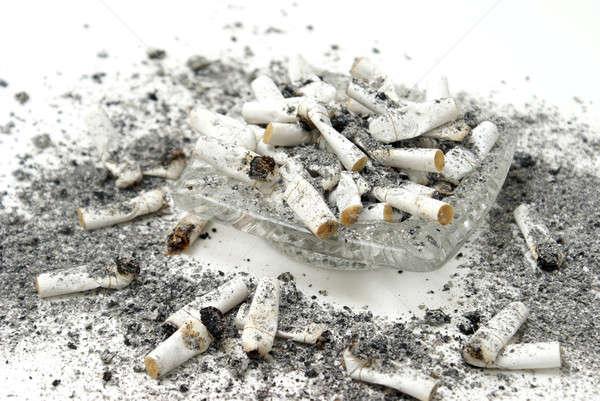 Küllük sigara cam tehlike çöp kötü Stok fotoğraf © AlphaBaby