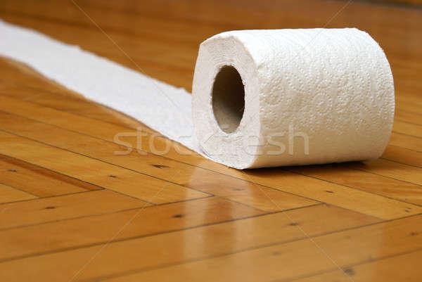 Carta igienica rotolare via carta piano WC Foto d'archivio © AlphaBaby