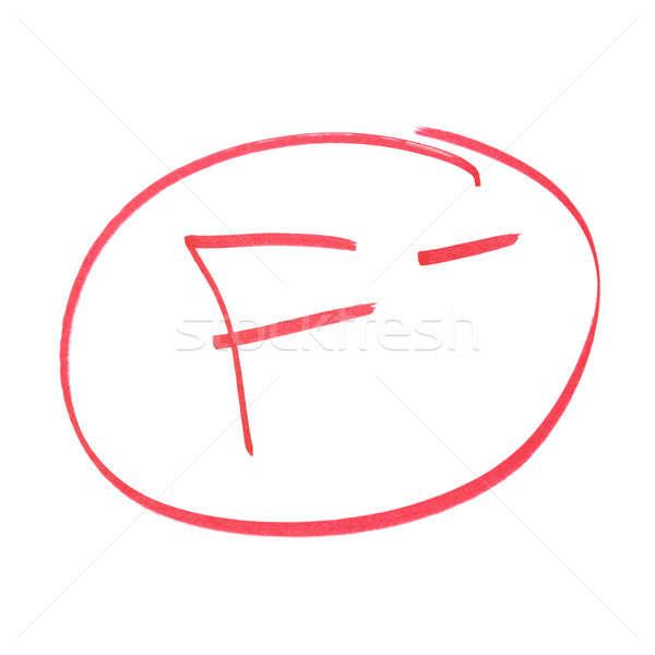 Eksi başarısız oldu eğitim mektup çalışma Stok fotoğraf © AlphaBaby