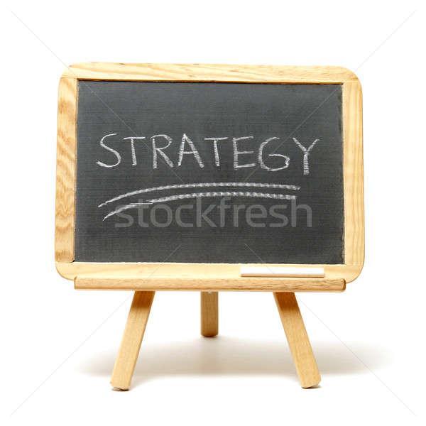 Estratégia simples tática sucesso negócio fundo Foto stock © AlphaBaby