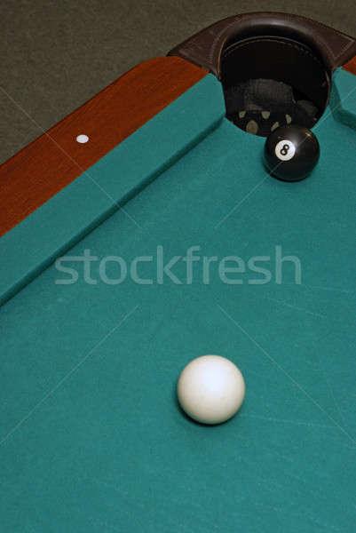 Ostatni shot gry bilard zabawy piłka Zdjęcia stock © AlphaBaby