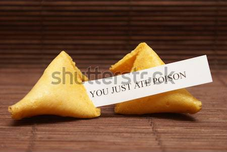 Grimmig toekomst lot fortune cookie papier bloed Stockfoto © AlphaBaby