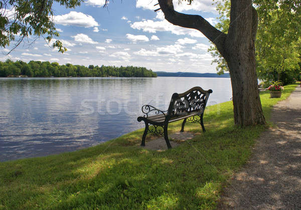 Lakeview Bench Seat Stock photo © AlphaBaby