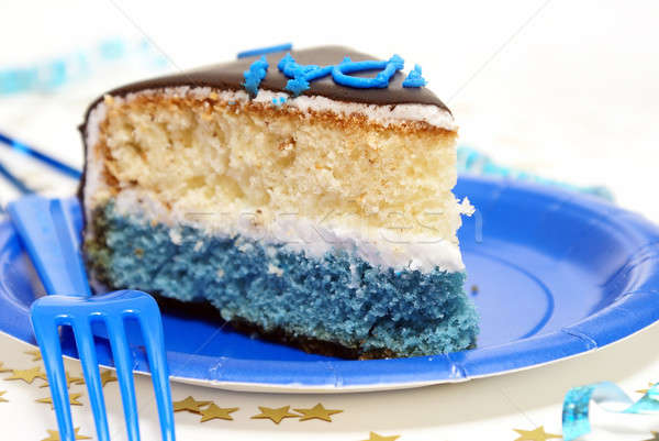 Admirable Slice Of Birthday Cake Stock Photo C Matthew Benoit Alphababy Personalised Birthday Cards Paralily Jamesorg