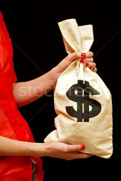 Contanti professionali donna presenta completo soldi Foto d'archivio © AlphaBaby
