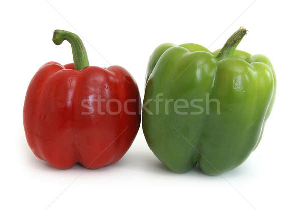 Stok fotoğraf: Kırmızı · yeşil · çift · beyaz · bitki