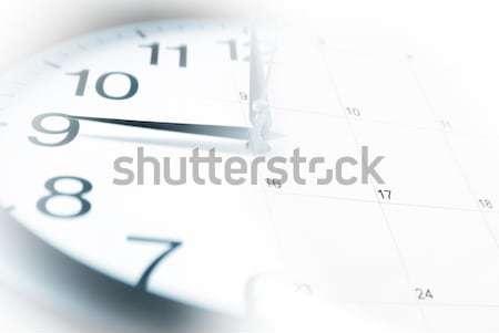 Clock and Calendar Stock photo © AlphaBaby