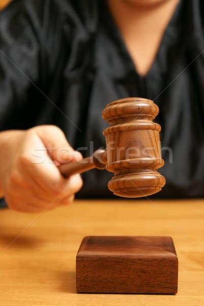 Juicio profesional juez jurídica final mano Foto stock © AlphaBaby