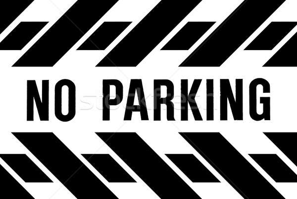 Parkolni tilos szalag útszéli megelőzés jármű parkolás Stock fotó © AlphaBaby