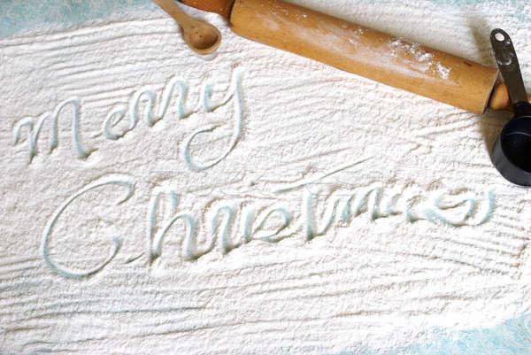 Noel yazı un yaratıcı tebrik yazılı Stok fotoğraf © AlphaBaby