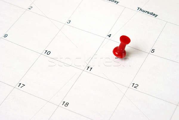 Recordatorio establecer fecha oficina tiempo rojo Foto stock © AlphaBaby