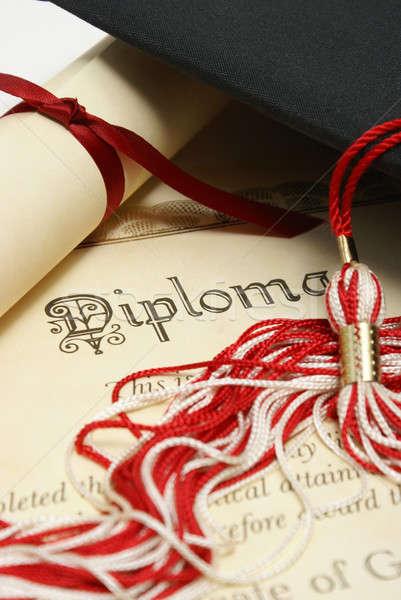 Estudantes sucesso diploma seis alto preto Foto stock © AlphaBaby