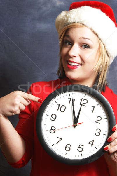 Сток-фото: время · работает · из · торопить · бить · Рождества