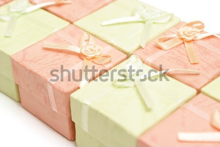 Gyémántgyűrű doboz fém szépség ajándék házasság Stock fotó © AlphaBaby