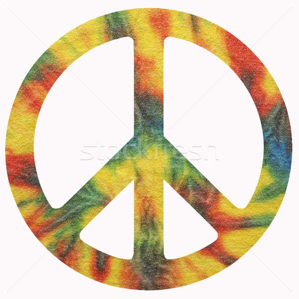 Stockfoto: Vrede · symbool · geïsoleerd · liefde · gelukkig · kunst