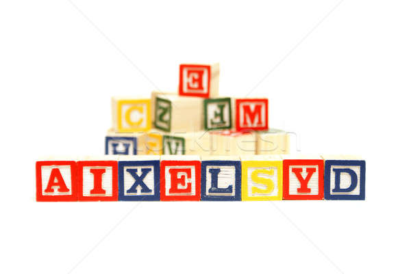 Zorluklar mektup beyin okuma çalışma stres Stok fotoğraf © AlphaBaby
