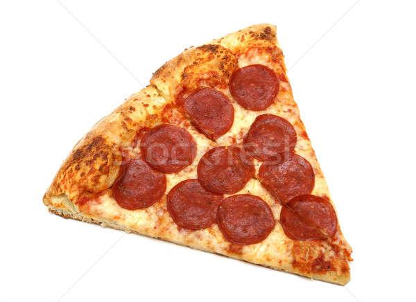 スライス ペパロニ チーズ ピザ 食品 ストックフォト © AlphaBaby