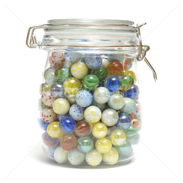 Jar of Marbles Stock photo © AlphaBaby