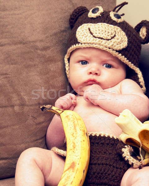 Scimmia follia due mesi vecchio Foto d'archivio © AlphaBaby