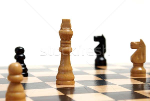 стратегический выстрел игры шахматам Сток-фото © AlphaBaby