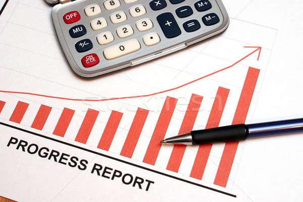 успех успешный прогресс докладе замедлять Сток-фото © AlphaBaby