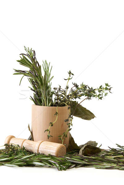 Stock photo: Preparing Herbs