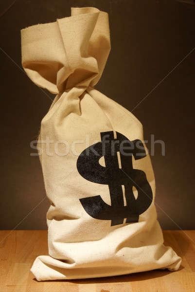 Geld zak dollar symbool business financieren Stockfoto © AlphaBaby