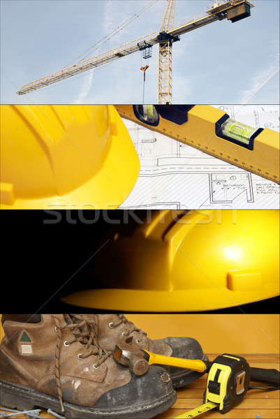 Construction Collage Stock photo © AlphaBaby
