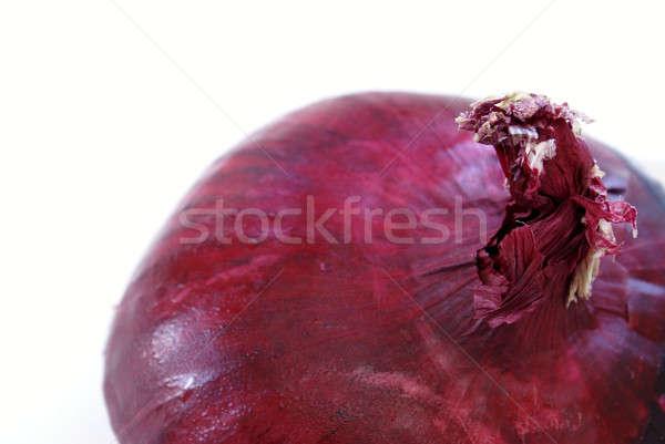Vöröshagyma makró lövés felső étel háttér Stock fotó © AlphaBaby