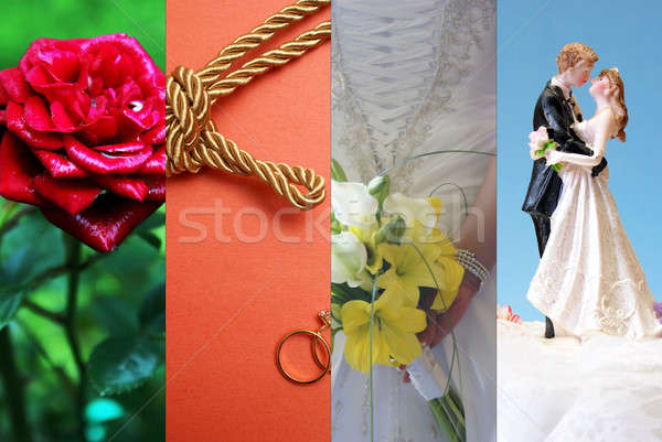 Marriage Collage Stock photo © AlphaBaby