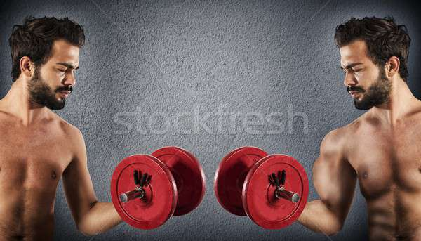 Before and after workout Stock photo © alphaspirit