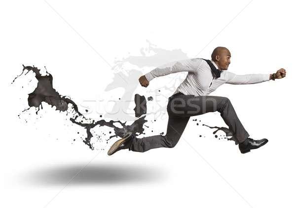вызов бизнеса человека бизнесмен Перейти Финансы Сток-фото © alphaspirit