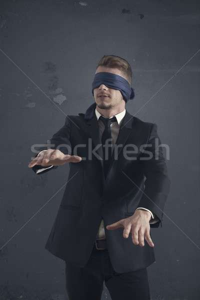 Blind businessman Stock photo © alphaspirit