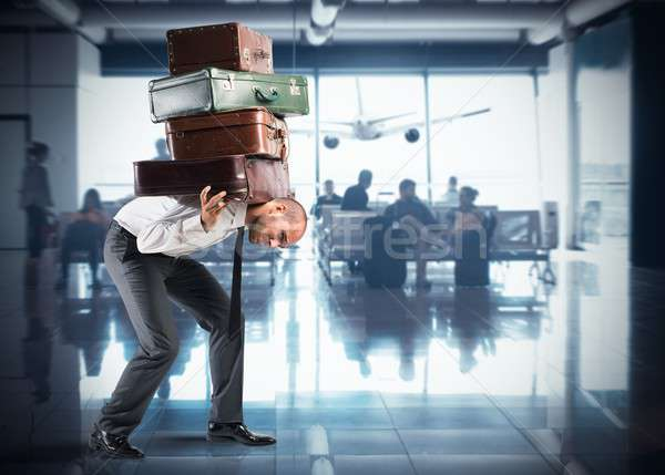 Too many bags for departure Stock photo © alphaspirit