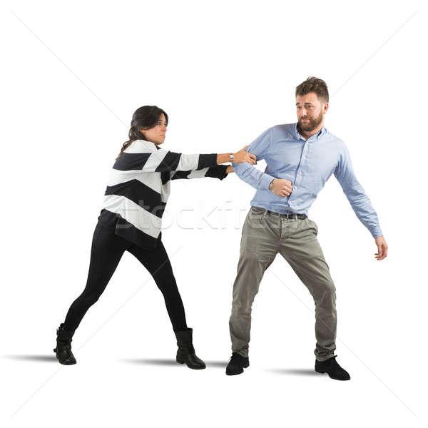 Casais brigar triste mulher homem família Foto stock © alphaspirit