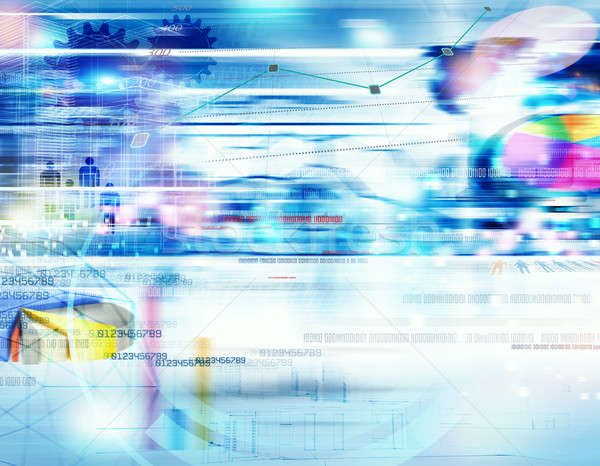 Stock photo: Background business analysis on web