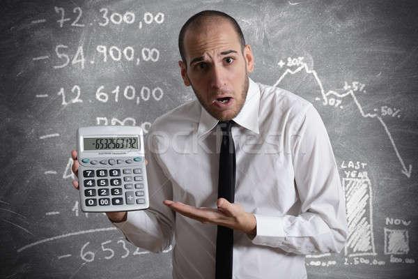 Imposto crise empresário mostrar negativo número Foto stock © alphaspirit