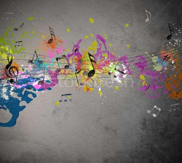 Musical grunge background Stock photo © alphaspirit