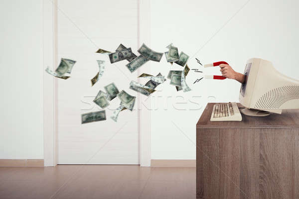 Furto internet anonimo soldi magnete business Foto d'archivio © alphaspirit