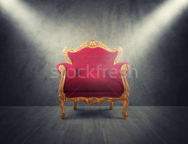 Red and gold luxury armchair. concept of success and glory Stock photo © alphaspirit