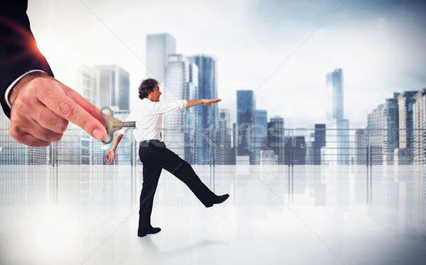 Handling employee Stock photo © alphaspirit