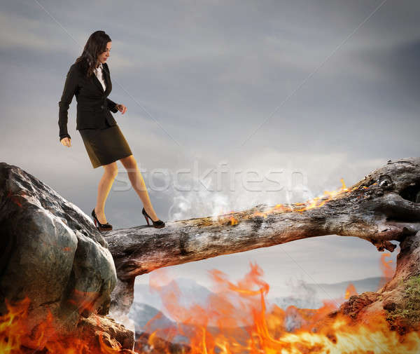 Overcome obstacles Stock photo © alphaspirit