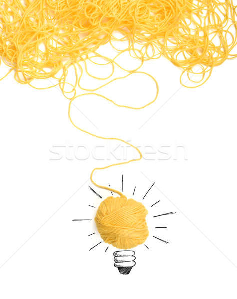 Stock photo: Concept of idea and innovation with wool ball