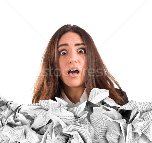 Submerged by the working documents Stock photo © alphaspirit