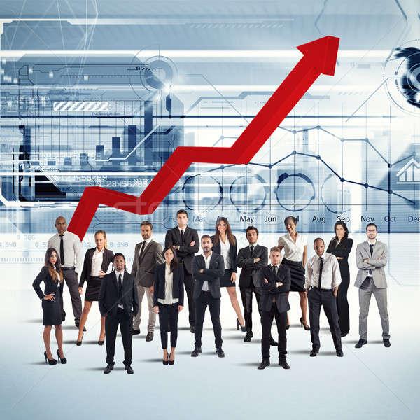 Businesspeople of successful company Stock photo © alphaspirit