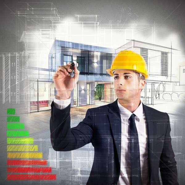 Architect energy certification Stock photo © alphaspirit