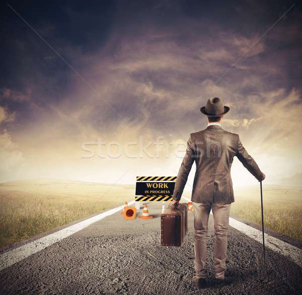 Obstacle in a path Stock photo © alphaspirit